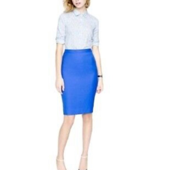 Jcrew Pencil Skirt - Royal Blue